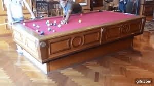 Elliptical Pool Table A Game Of Pool Being Played On A Gyroscopic Self Leveling Pool