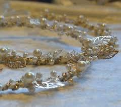 stefana crowns 2 ivory gold leaf pearl orthodox wedding stefana stephana