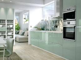 cuisine kit ikea cuisine en kit ikea cuisine verte avec coin repas et ouverte sur