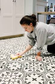 paint u0026 tile for our basement kitchen tile flooring cement and