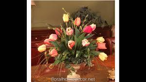 artificial flower home decor silk flower arrangements floral home decor youtube