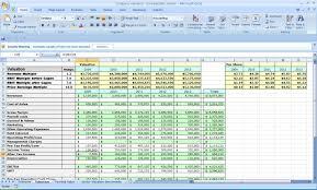 Financial Business Plan Template Excel Valuation Excel Template 100 Images Improve Your Business