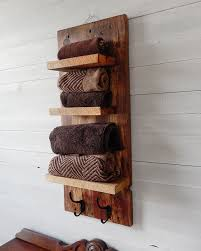 Wooden Shelves For Bathroom Bathroom Shelves Rustic Bathroom Shelves With Hooks
