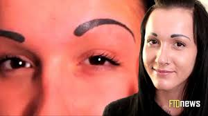 Semi Permanent Tattoo Eyebrows Pretty Ruins Her Face With Eyebrows Tattoo Tattoo Fail