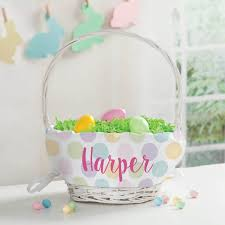 personalized easter basket polka dots for personalized easter basket personalized planet