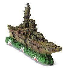 aliexpress buy resin aquarium ornament destroyer navy war