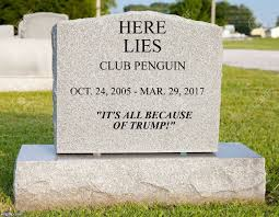 headstone maker image tagged in club penguin donald gravestone rest in