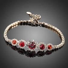 red stone bracelet images Bracelets dark red round crystal bracelet jpg