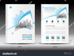 Newspaper Book Report Template Annual Report Brochure Flyer Template Blue Stock Vector 576395494