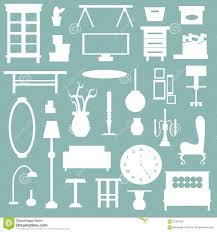 Appliance Business Cards Flat Home Appliance Furniture And Interior Decoration Icon Stock