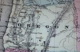Oregon City Oregon Map by 1865 Maps Imk