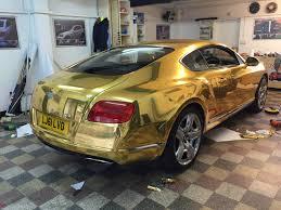 bentley van bentley gt chrome gold wrap wrapping cars car wrap u0026 vehicle