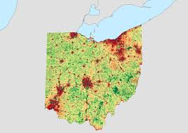 Ohio Amish Country Map by Population Density Of Ohio By Census Block Oc 3507x2480 Mapporn