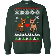 rudolph sweater rudolph and clarice sweatshirt rudolph and clarice