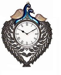 buy jaipurcrafts analog 20 32 cm dia wall clock multicolor with