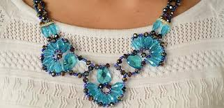 How To Make Jewelry Beads At Home - how to make a delicate blue charm necklace with beads at home