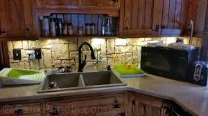 Stone Veneer Backsplash - Stacked stone veneer backsplash