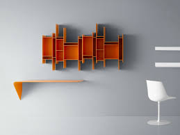 open wall mounted mdf bookcase randomito random collection by mdf