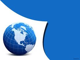 free blue globe design backgrounds for powerpoint science ppt