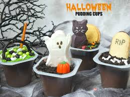 halloween kitty litter cake graveyard pudding cups party pinching
