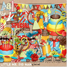 birthday cards from digital scrapbooking supplies