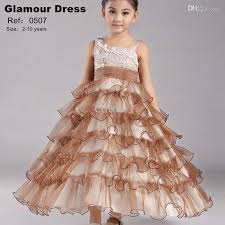 wholesale factory direct sale kids party dress organza ball