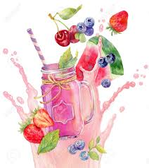 watercolor cocktail smoothie clipart cocktail drink pencil and in color smoothie