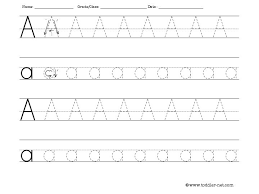 printable letter tracing worksheets free tracing letter a worksheet