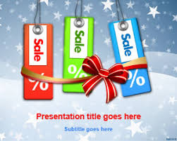 free holiday sales powerpoint template