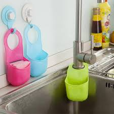 Hot Creative Kitchen Sink Bathroom Hanging Strainer Organizer - Kitchen sink sponge holder