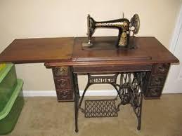 Antique Singer Sewing Machine Table 1912 Singer
