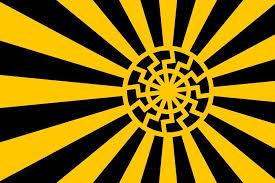 black sun rays japanese war flag design de nugent