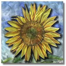 sunflowers decorations home wall art designs sunflower wall art big sunflower metal wall art