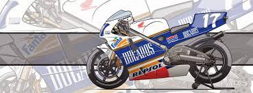 honda nsr racing cafè motorcycle art honda nsr 500 1994 by evan deciren