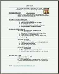 Housekeeper Resume Samples Free Sample Resume For Housekeeper Sample Resume For Housekeeper We