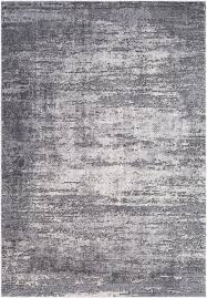 Grey Modern Rug Williston Forge Distressed Modern Abstract Gray Area