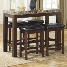 signature design by ashley kraleene 5 piece counter table set with