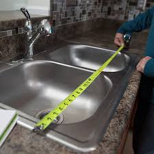 how to replace a kitchen faucet kitchen measure the sink for an exact replacement installing