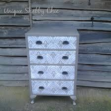 how to u0027 shabby chic a chest of drawers with lace effect stencil