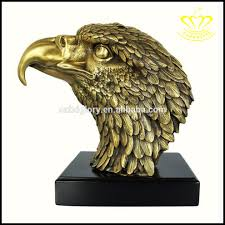 handmade elegant cast metal brass eagle sculpture for sale home