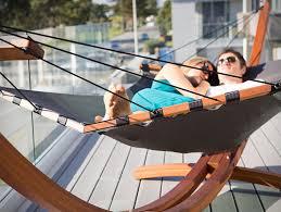 lujo freestanding wood hammock u2013 gearnova