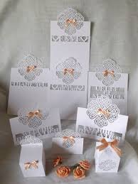 Wedding Stationery Sets Craftrobo Cameo Template Love Knot Wedding Stationery Set 4 46