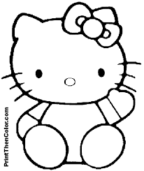 kitty coloring pages print printables