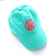 monogramed items monogrammed caps district17 seafoam monogram baseball cap