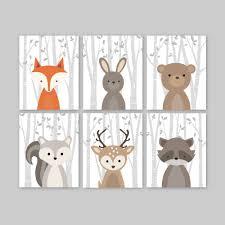 Woodland Decor Nursery Cozy Design Animal Wall With Fox Nursery Decor Woodland Forest