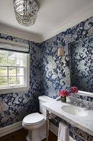 Small Powder Room Images Small Powder Room With Console Sink Ways To Wallpaper A Small