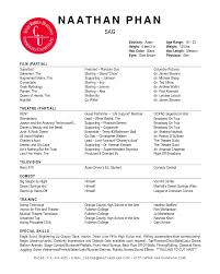 Resume Example Or Templates by Musical Theatre Resume Template