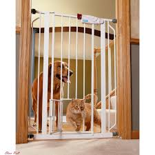 baby gate with door security wood pet fence child safety gates dog