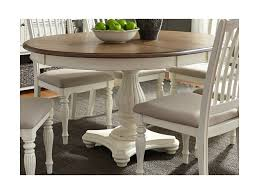 Liberty Furniture Dining Table by Liberty Furniture Cumberland Creek Dining Pedestal Table With Leaf