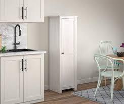 kitchen pantry cabinet oak lincoln magnolia oak white single door kitchen pantry